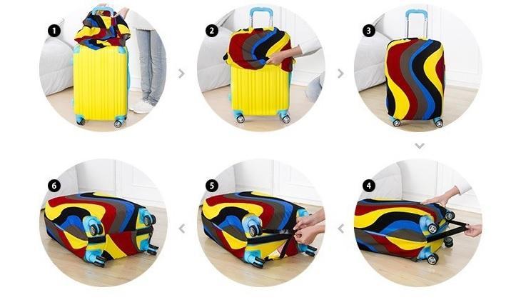 COMMENT LE METTRE - Housse de valise Design