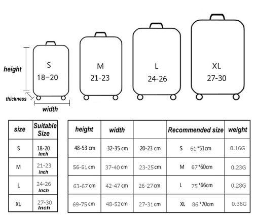 DETAIL DES TAILLES e1546707180304 - Housse de valise Design